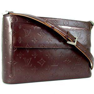 Auth Louis Vuitton Matte Alston Shoulder Bag